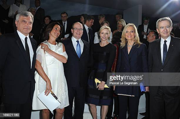 Sidney Toledano Katia Toledano Prince Albert II of Monaco Princess Charlene of Monaco Helene Mercier and LVMH CEO Bernard Arnault attend the Dior...