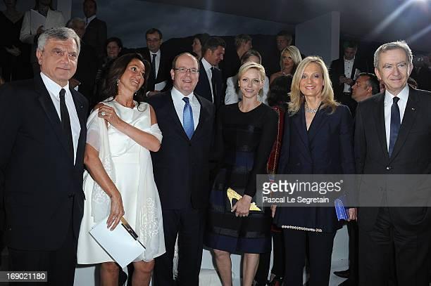 Sidney Toledano Katia Toledano Prince Albert II of Monaco Princess Charlene of Monaco Helene Mercier and LVMH CEO Bernard Arnault attend the Dior...
