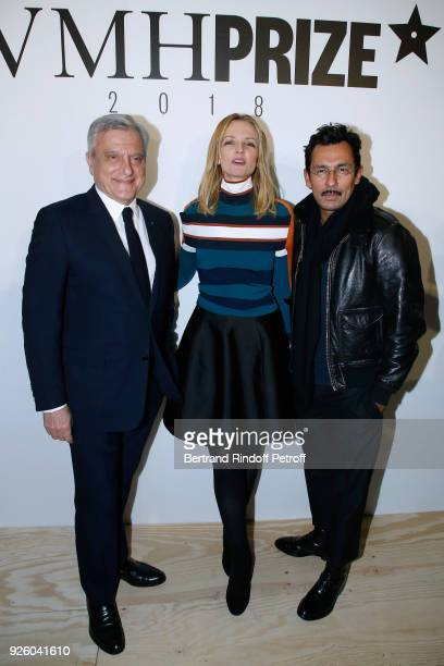 Sidney Toledano Louis Vuitton's executive vice president Delphine Arnault and Haider Ackermann attend the LVMH Prize 2018 Designers Presentation on...
