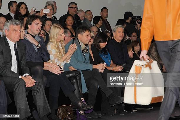 Sidney Toledano Natalia Vodianova Antoine Arnault Lady Mary Charteris Jamie Hince and Jaime Winstone attend the Louis Vuitton Men Autumn / Winter...