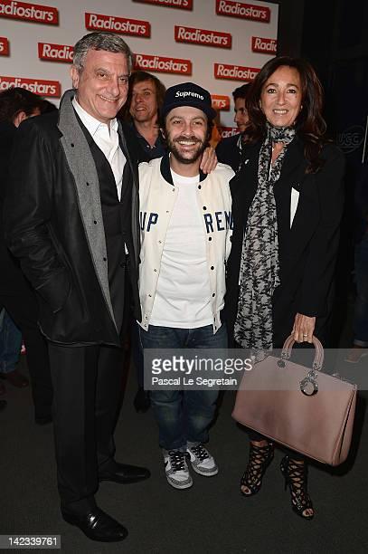 Sidney Toledano Romain Levy and Katia Toledano attend 'Radiostars' premiere at Cinema UGC Normandie on April 2 2012 in Paris France