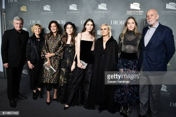 Sidney Toledano Wendy Fisher Katia Toledano Alana Haim Danielle Haim Maria Grazia Chiuri Este Haim and Richard Armstrong attend the 2017 Guggenheim...