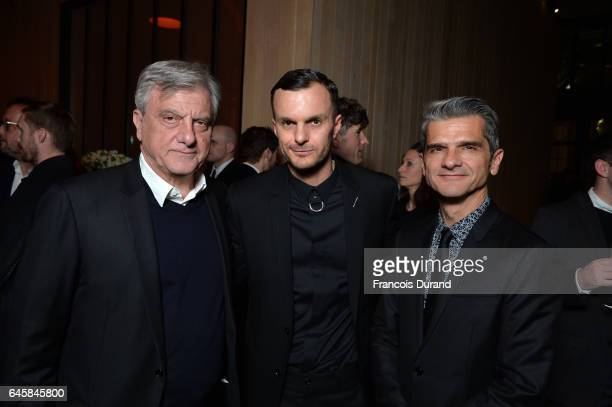 Sidney ToledanoKris Van Assche and Serge Brunschwig attend the Dior Homme Menswear Aftershow Cocktail Dinner Fall/Winter 20172018 show as part of...