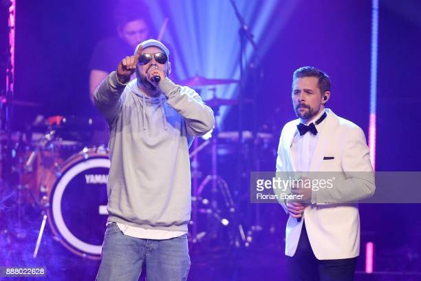 Sido and Klaas HeuferUmlauf perform on stage during the 1Live Krone at Jahrhunderthalle on December 7 2017 in Bochum Germany