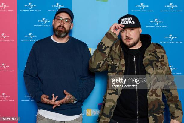 Sido and Kool Savas pose for a photo during Universal Inside 2017 organized by Universal Music Group at MercedesBenz Arena on September 6 2017 in...