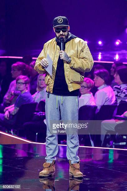 Sido performs on stage during the Echo Award 2016 show on April 07 2016 in Berlin Germany