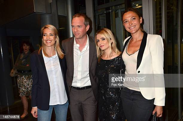 Sidonie Bonnec Julien Arnaud Marie Inbona and Sandrine Quetier attend the 'Trofemina 2012 Edition hosted by Tentation at Institut du Monde Arabe on...