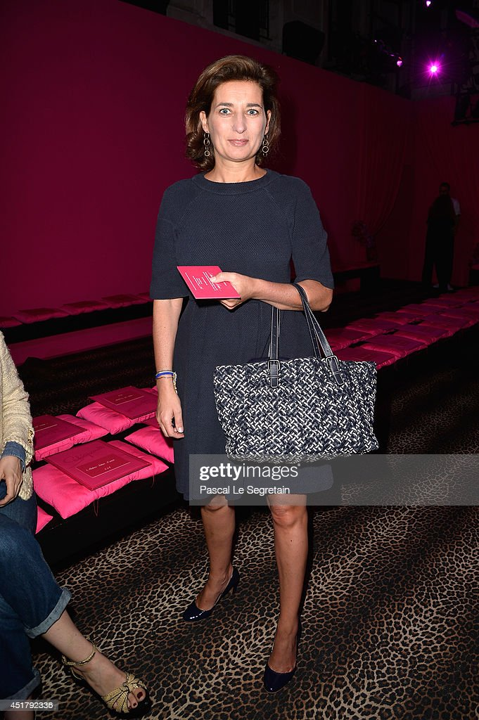 Sidonie Dumas attends the Schiaparelli show as part of Paris Fashion Week - Haute Couture Fall/Winter 2014-2015 on July 7, 2014 in Paris, France.