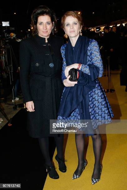 Sidonie Dumas Seydoux and Ariane Toscan du Plantier attend 'Dinner at Le Fouquet's' during Cesar Film Award 2018 at Le Fouquet's on March 2 2018 in...