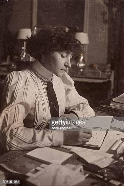 Sidonie Gabrielle Colette called Colette french writer born at SaintSauveurenPuisaye Ca 1905