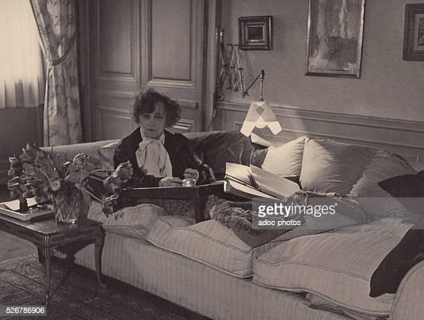 Sidonie Gabrielle Colette called Colette French writer born at SaintSauveurenPuisaye Ca 1950