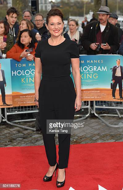 Sidse Babett Knudsen arrives for the UK premiere of 'A Hologram For The King' at BFI Southbank on April 25 2016 in London England
