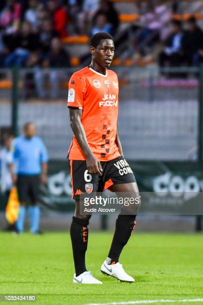 Sidy Sarr of Lorient during the French Ligue 2 match between Red star and Lorient at Stade Pierre Brisson on September 14 2018 in Beauvais France