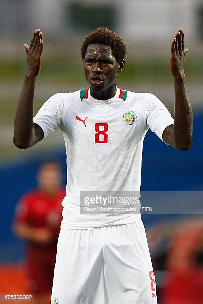 Sidy Sarr of Senegal reacts to a missed opportunity on goal during the FIFA U20 World Cup New Zealand 2015 Group C match between Portugal and Senegal...