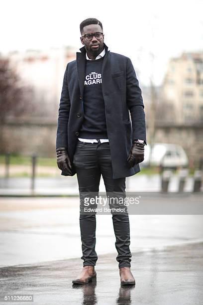 Sidya Sarr wears a Club Bagarre top Cheap Monday slim pants San Marina shoes a Le Garbo jacket a Hinderberg watch Asos bracelets Galeries Lafayette...