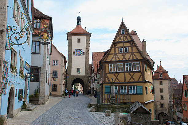 Sieber's Tower (erected 1385) and medieval buildings on Plonlein (Little Square).