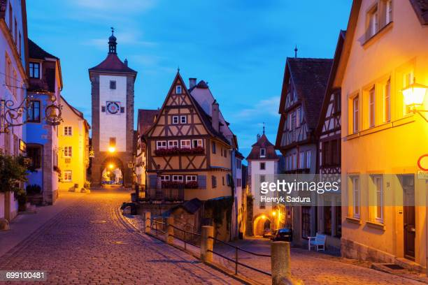 Siebersturm in Rothenburg. Rothenburg, Bavaria, Germany