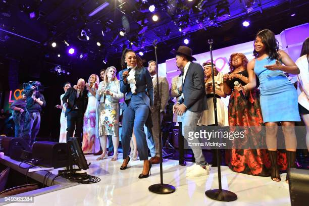 Siedah Garrett performs onstage at the 25th Annual Race To Erase MS Gala at The Beverly Hilton Hotel on April 20 2018 in Beverly Hills California