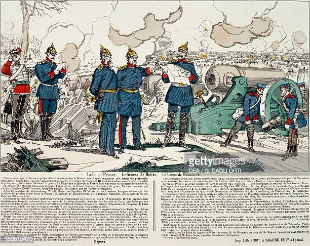 Siege and bombardment of Paris by the Prussians Epinal engraving City of Paris France 19th century