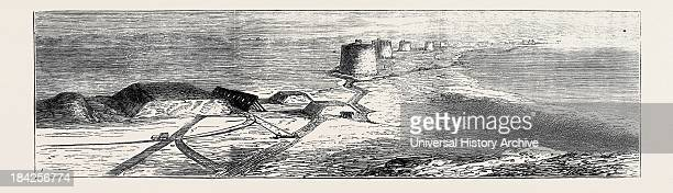 'Siege Guns And Earthworks' Artillery Experiments At Eastbourne The Battery Of Defence From The Nearest Martello Tower