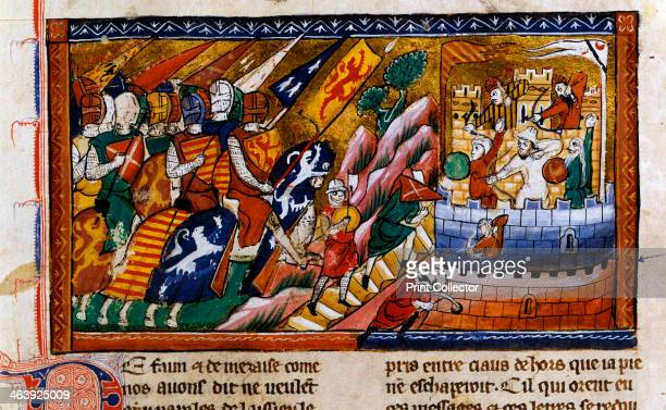 Siege of Antioch c1097 Illustration of a scene during the first crusade from the Chronicle of William of Tyre in the collection of the Bibliotheque...