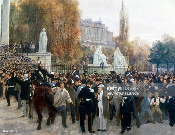 Siege of Paris, the Assembly building after the meeting of September 4 detail from a painting by Jules Didier and Jacques Guiaud. Franco-Prussian...