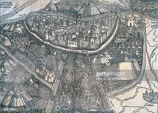 Siege of Pavia commanded by the King of France 1523 Fourth War of Italy Italy 16th century