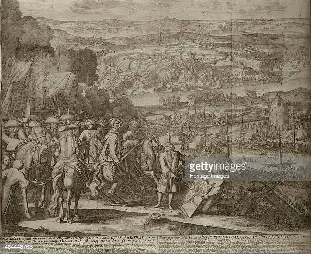 Siege of the Turkish Fortress Azov by Russian Forces in 1696 um 1700 Found in the collection of the State Hermitage St Petersburg