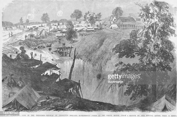 Siege of Vicksburg Life in the Trenches Vicksburg Mississippi early to mid 1860s From an issue of Frank Leslie's Illustrated Almanac