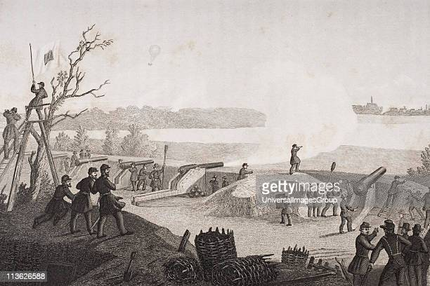Siege of Yorktown Virginia 1862 Drawn by FB Schell
