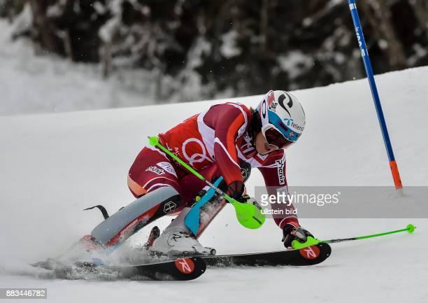 Sieger Henrik Kristoffersen in Aktion waehrend dem FIS Slalom Ski Weltcup der Herren auf dem Gaslernhang am 24 Januar 2016 in Kitzbuehel