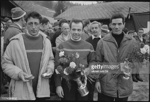 Siegerehrung der 40. Schweizer Meisterschaft: Denis Mast, 1966