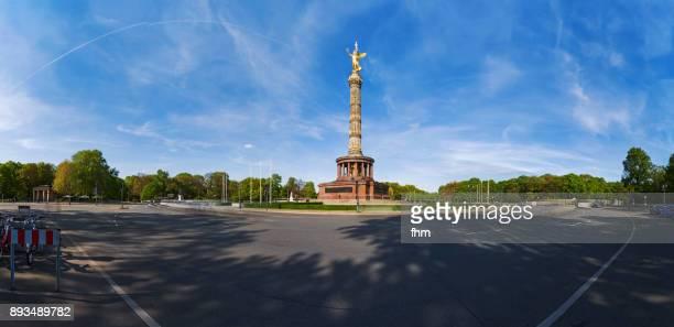 siegessäule (victory column) in the german capital berlin (tiergarten district/ berlin, germany) - wahrzeichen stock-fotos und bilder