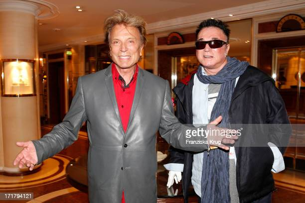 Siegfried and Roy sighting at the Bayerischer Hof Hotel on June 28 2013 in Munich Germany