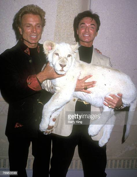 Siegfried and Roy with White Lion