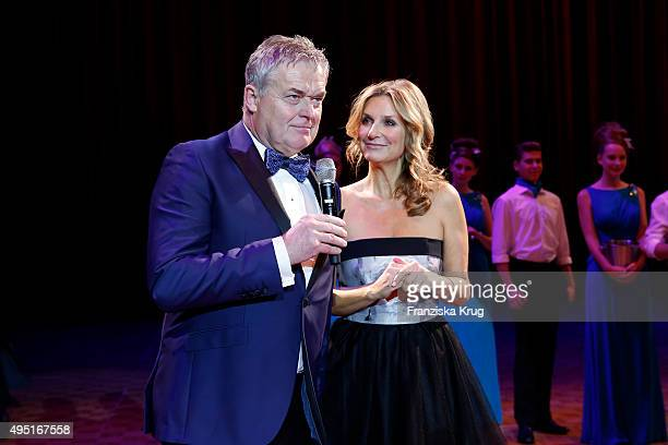 Siegfried Buelow and Kim Fisher attend the Leipzig Opera Ball 2015 on October 31, 2015 in Leipzig, Germany.