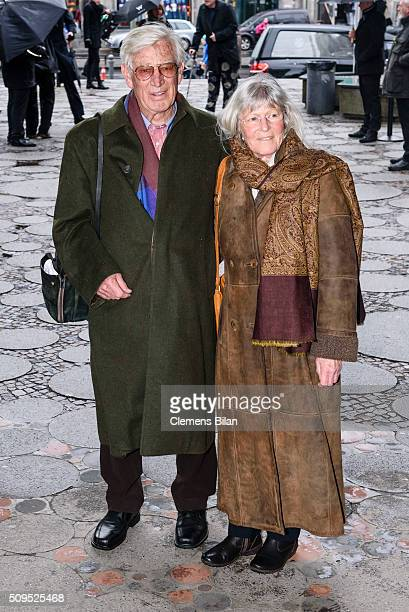 Siegfried Rauch and his wife Karin attend the Wolfgang Rademann memorial service on February 11 2016 in Berlin Germany