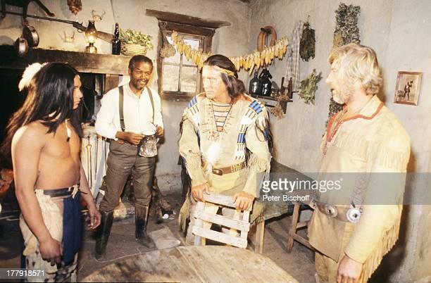 Siegfried Rauch Pierre Brice Leopoldo Frances Indianer ARDSerie Mein Freund Winnetou vom französischen Fernsehen Antenne 2 Folge 1 Blut und Sand...