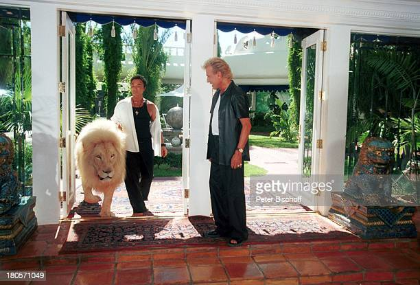 Siegfried Roy Homestory Dschungel Palast Las Vegas/Nevada/USA Garten Löwe weisser Löwe PNr383 Künstlernamen Siegfried Fischbacher Roy Uwe Ludwig Horn...