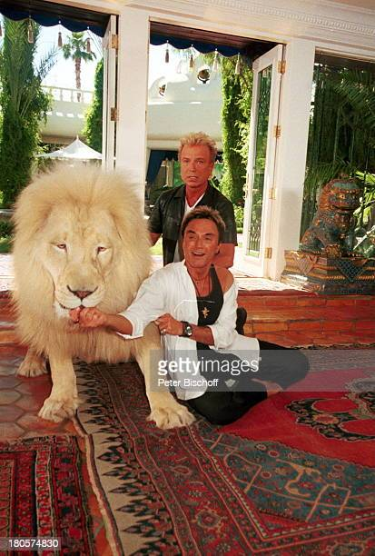 Siegfried Roy weißer Löwe Homestory DschungelPalast Las Vegas/Nevada/USA Palmen Homestory Innenraum Wohnzimmer