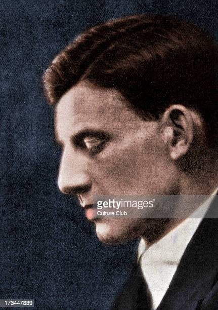 Siegfried Sassoon - portrait of the English writer and poet. 8 September 1886 - 1 September 1967. Colourised version.