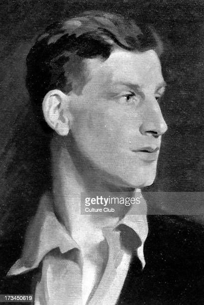 Siegfried Sassoon - portrait of the English writer and poet. From a painting by Glyn Philpot. 8 September 1886 - 1 September 1967.