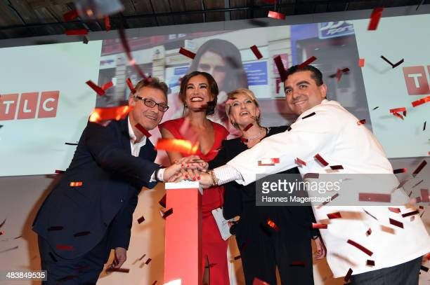 Siegfried Schneider JanaIna Zarrella Susanne AignerDrews and Buddy Valastro attend the TLC Station Launch Party on April 10 2014 in Munich Germany