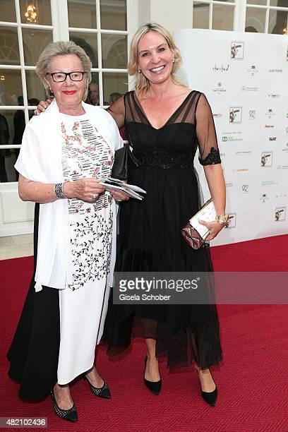 Sieglinde Greipl and her daughter Saskia Greipl during the 'Die Goldene Deutschland' Gala on July 26 2015 at Cuvillies Theater in Munich Germany