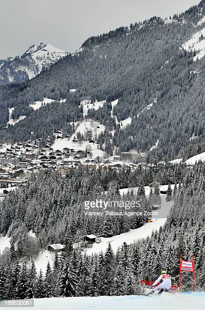 Siegmar Klotz of Italy competes during the Audi FIS Alpine Ski World Cup Men's Downhill training on January 15 2013 in Wengen Switzerland