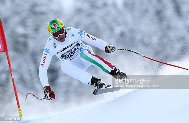 Siegmar Klotz of Italy competes during the Audi FIS Alpine Ski World Cup Men's Super Combined on January 18 2013 in Wengen Switzerland