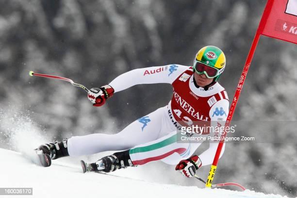 Siegmar Klotz of Italy competes during the Audi FIS Alpine Ski World Cup Men's SuperG on January 25 2013 in Kitzbuehel Austria
