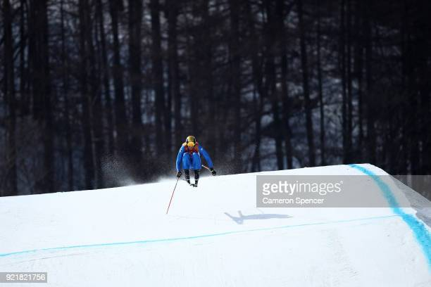 Siegmar Klotz of Italy competes in the Freestyle Skiing Men's Ski Cross Seeding on day 12 of the PyeongChang 2018 Winter Olympic Games at Phoenix...