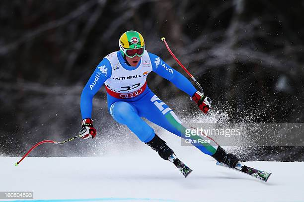 Siegmar Klotz of Italy competes in the Men's Super G event during the Alpine FIS Ski World Championships on February 6 2013 in Schladming Austria