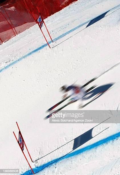 Siegmar Klotz of Italy during the Audi FIS Alpine Ski World Cup Men's Downhill on January 14 2012 in Wengen Switzerland